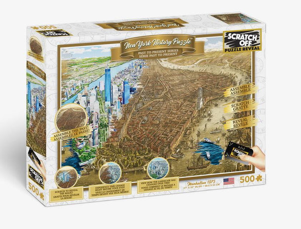 Scratch OFF History Puzzle : New York - 4DPuzz - 4DPuzz