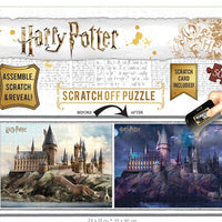 Scratch OFF Puzzle Harry Potter Hogwarts Day to Night - 500 PCS - 4DPuzz - 4DPuzz