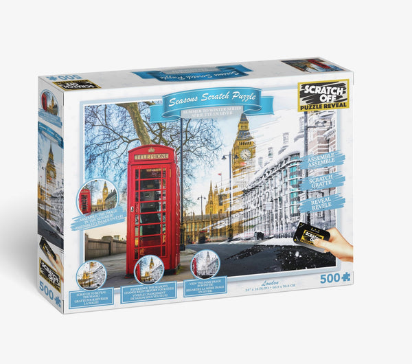 Scratch OFF Seasons Puzzle: Big Ben - 4DPuzz - 4DPuzz