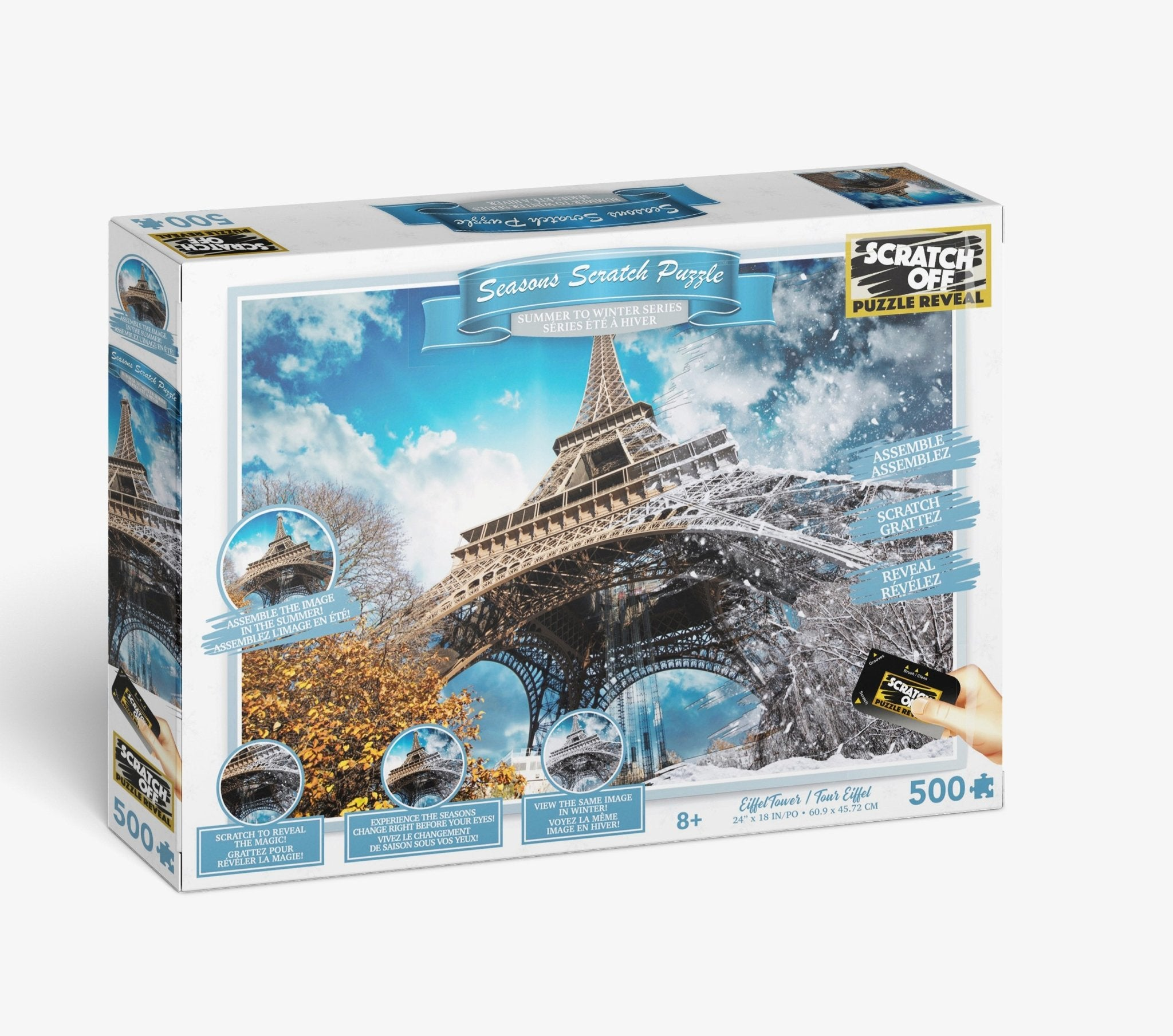 Scratch OFF Seasons Puzzle: Eiffel Tower - 4DPuzz - 4DPuzz