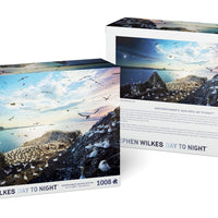 Stephen Wilkes Bass Rock, Scotland, Day to Night™ - 4D Puzzle | 4D Cityscape - 4DPuzz