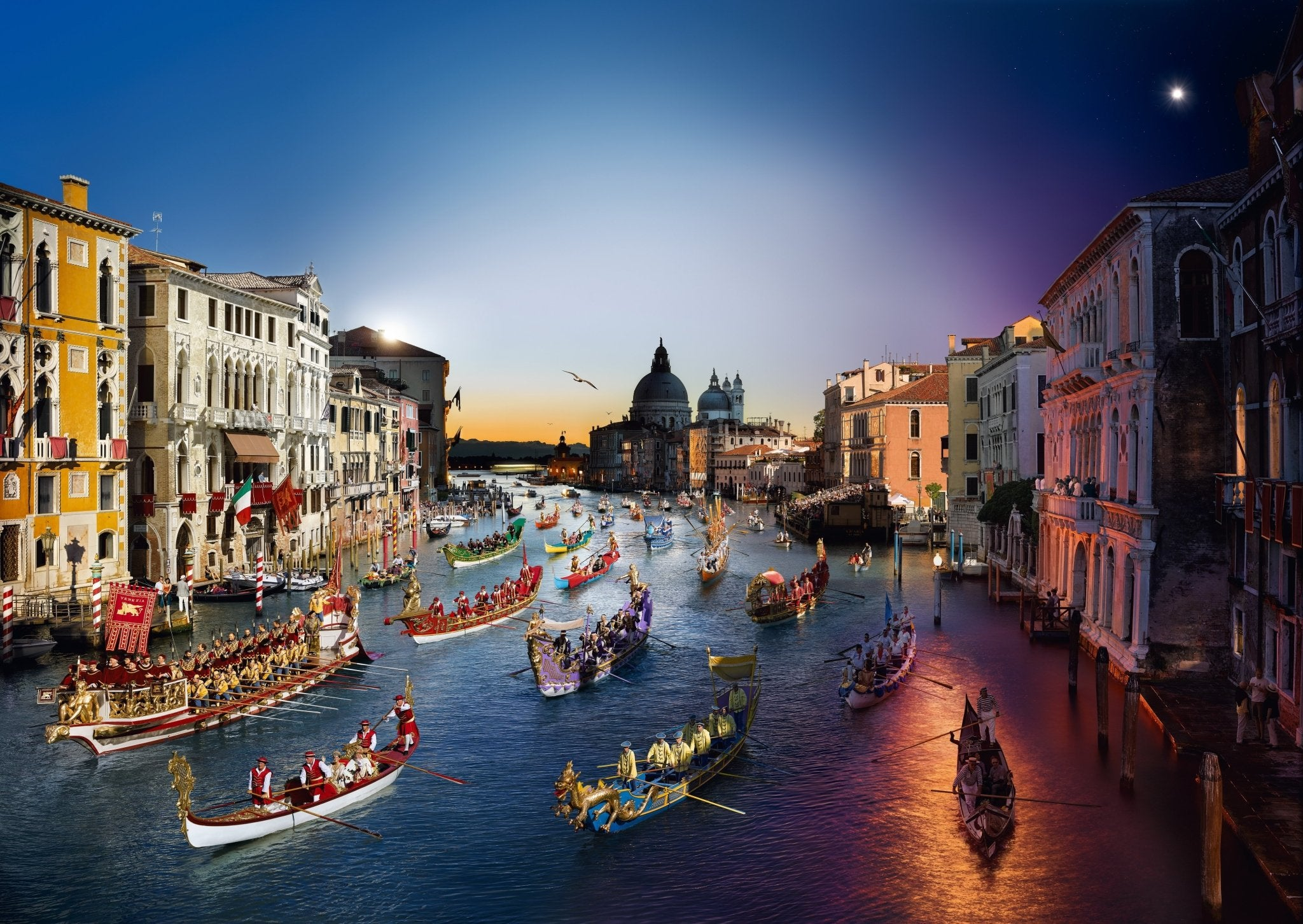 Stephen Wilkes Puzzle Regata Storica, Venice, Day to Night™ - 4DPuzz - 4DPuzz