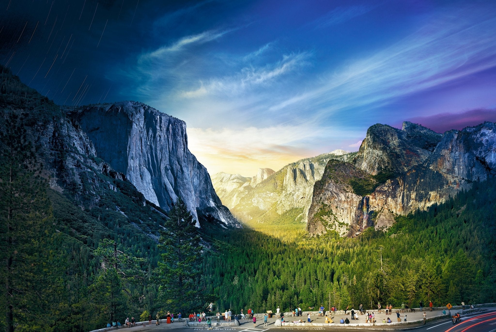 Stephen Wilkes Tunnel View, Yosemite National Park, Day to Night™ - 4D Puzzle | 4D Cityscape - 4DPuzz