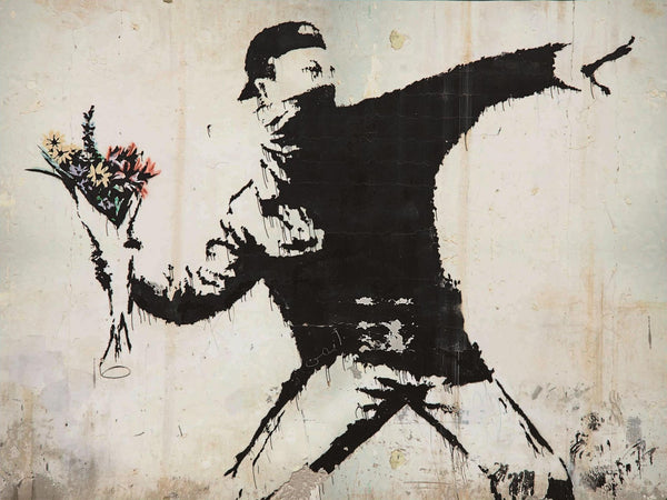 Banksy Puzzle - Urban Art Graffiti - Flower Thrower - 4D Puzzle | 4D Cityscape - 4DPuzz