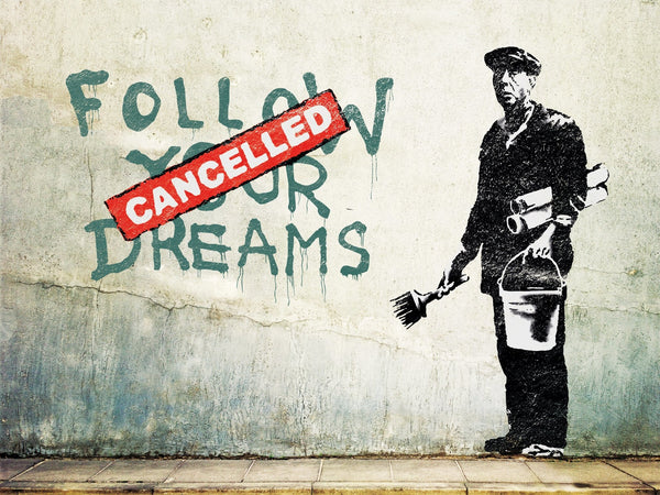Banksy Puzzle - Urban Art Graffiti - Follow Your Dreams (Cancelled) - 4D Puzzle | 4D Cityscape - 4DPuzz