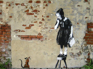 Banksy Puzzle - Urban Art Graffiti - Girl on a Stool - 4D Puzzle | 4D Cityscape - 4DPuzz