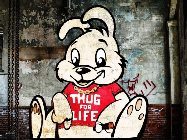 Banksy Puzzle - Urban Art Graffiti - Thug for Life Bunny - 4D Puzzle | 4D Cityscape - 4DPuzz
