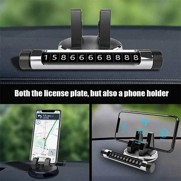 Hidden Temporary Parking Car Phone Holder