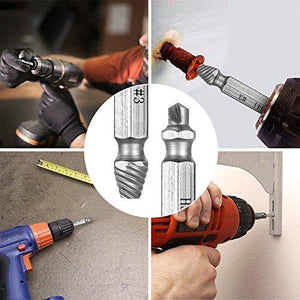 Designed to remove stubborn, rusted, stripped, screws or bolts.