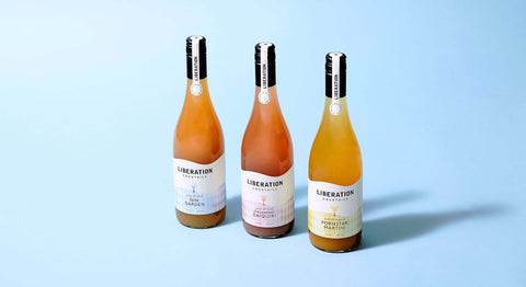 Three bottles of cocktails