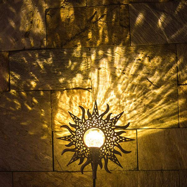 Romantic Solar Crackle Sun Garden Light