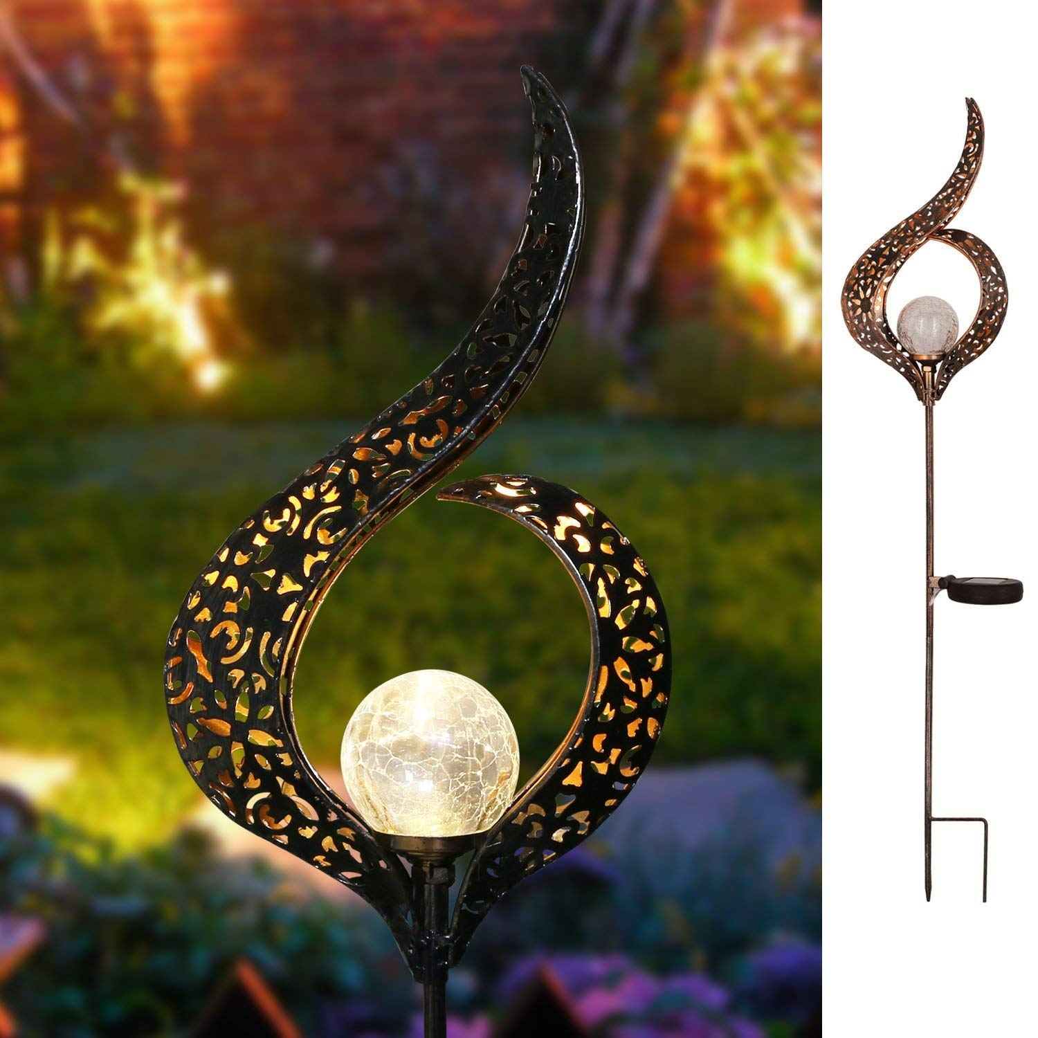 Romantic Solar Crackle Garden Light