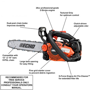 16 In-22in 62CC 3.5HP Guide Board Chainsaw Gasoline Powered Handheld Chain Saw 2-Stroke