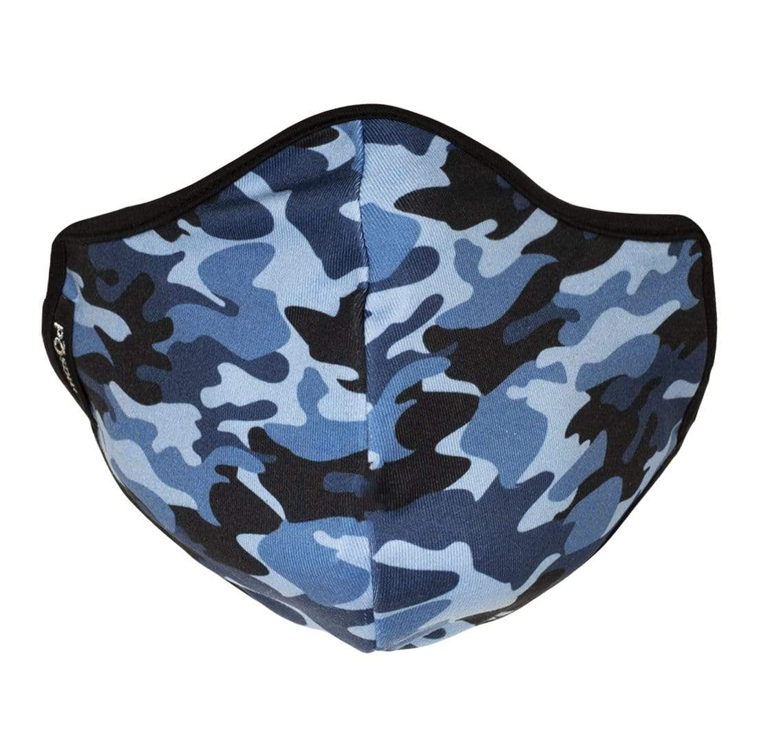 Blue Camo Face Mask