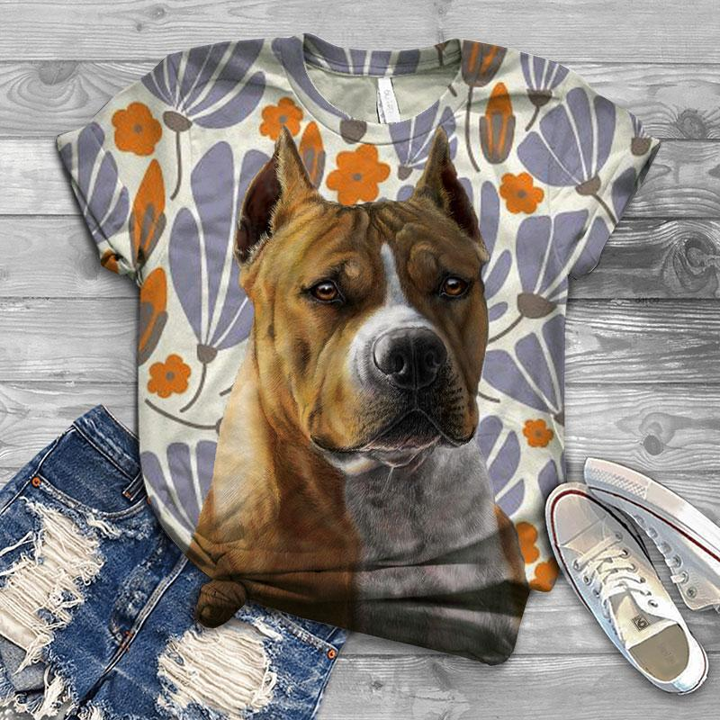 Perfect T-shirt For American Staffordshire Terrier Lovers - 3