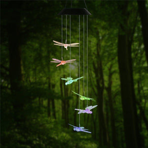 RGB Solar LED Dragonfly Wind Chimes