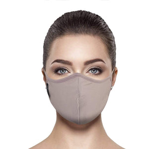 Taupe Rib Face Mask