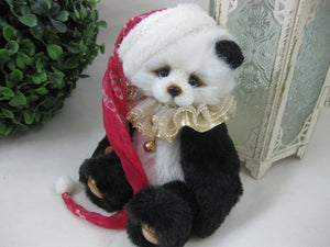 "SOLD Panda Jin - 5.5""  Artist  Bear Panda Handmade Christmas  by VERA J. BEARS"