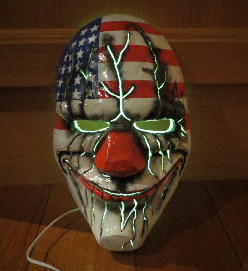🔥Buy 2 Get 3 🔥Payday mask Mega Dallas light up mask