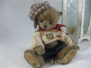 "SOLD  5.5"" Miniature Artist  Bear Handmade by Vera J.Bears"