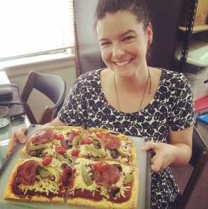 kerry & her pizza!