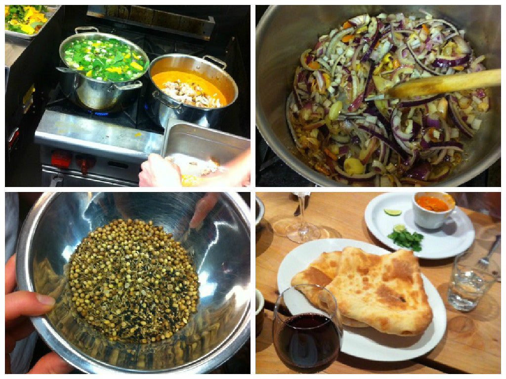 making chicken soup, preparing aromatics for the soup, dukkah & homemade flatbread!