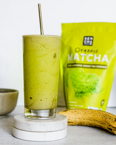 sencha naturals organic japanese green tea powder smoothie milkshake recipe