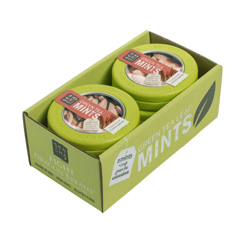Green Tea Mints - Cardamom Cinnamon | Mint Canister 6 Pack