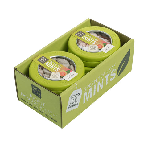 Island Guava, Green Tea Mints, Canister 6 Pack