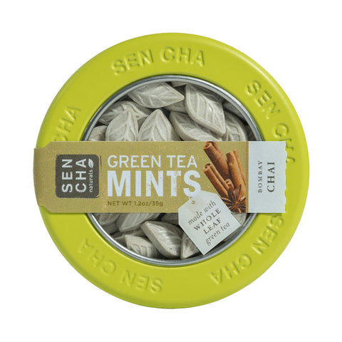Bombay Chai, Green Tea Mints, Canister Display Box of 12