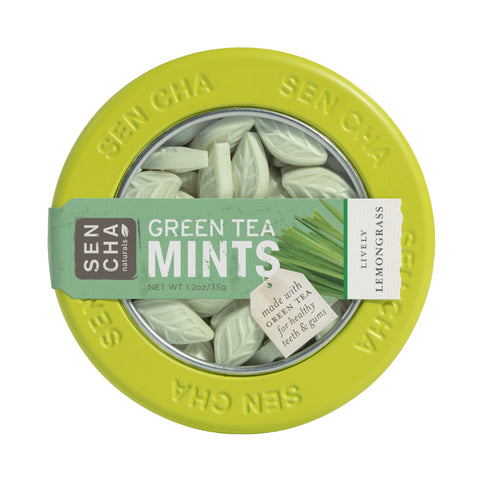 Lively Lemongrass, Green Tea Mints, Canister 6 Pack