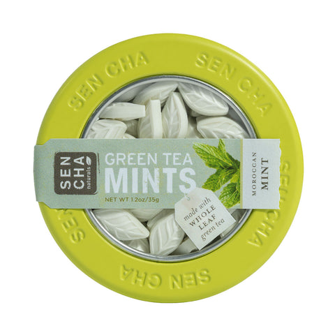 Moroccan Mint, Green Tea Mints, Canister Display Box of 12