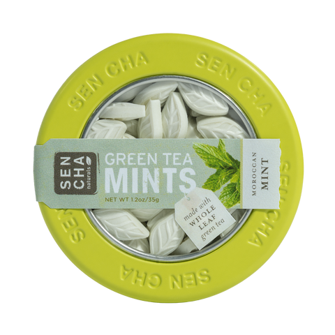 VARIETY GREEN TEA MINTS , CANISTER DISPLAY BOX OF 12