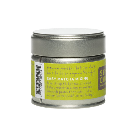 Back View - Premium Grade Organic Matcha Powder , 1 Oz Tin