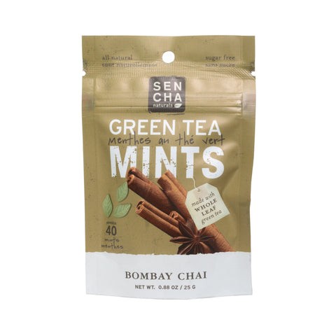 Bombay Chai, Green Tea Mints, Box of 12 Pocket Mints