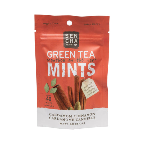 Cardamom Cinnamon, Green Tea Mints, Box of 12 Pocket Mints