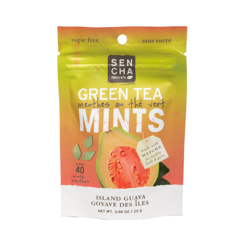 Island Guava, Green Tea Mints, Box of 12 Pocket Mints