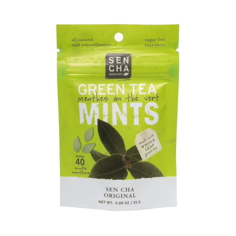 Green Tea Mints - Original | Box of 12 Pocket Mints