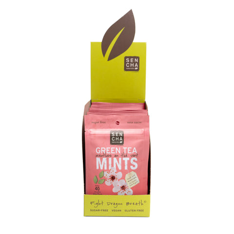 Cherry Blossom, Green Tea Mints, Box of 12 Pocket Mints