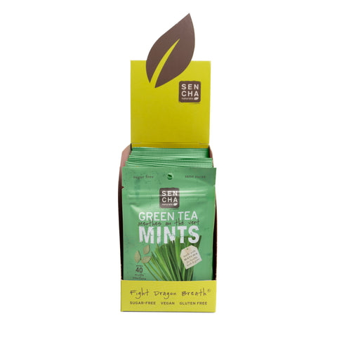 Lively Lemongrass, Green Tea Mints, Box of 12 Pocket Mints