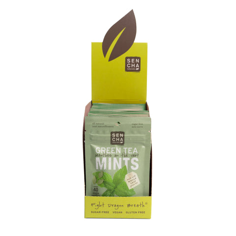 Moroccan Mint, Green Tea Mints, Box of 12 Pocket Mints
