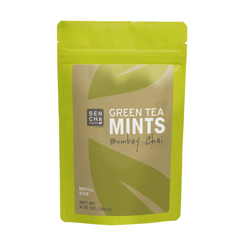 Bombay Chai, Green Tea Mints, Refill Bag