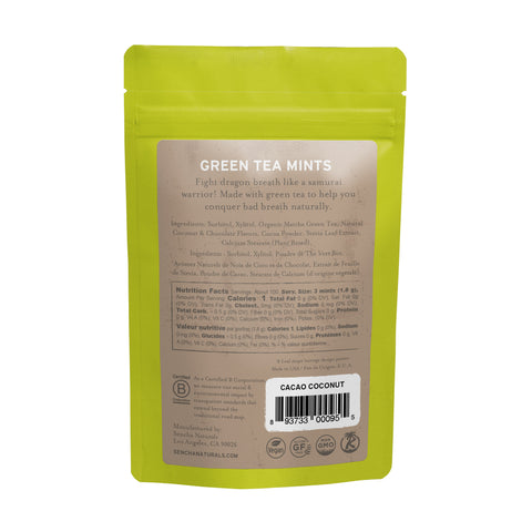 Green Tea Mints - Cacao Coconut | Bulk Refill Bags