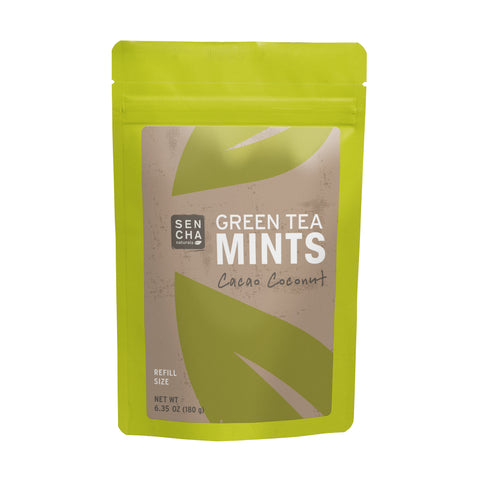Cacao Coconut, Green Tea Mints, Refill Bag
