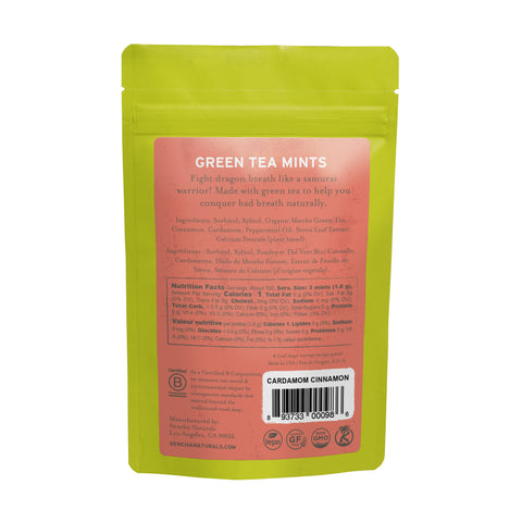 Cardamom Cinnamon, Green Tea Mints, Refill Bag