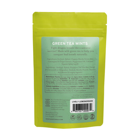 Lively Lemongrass, Green Tea Mints, Refill Bag