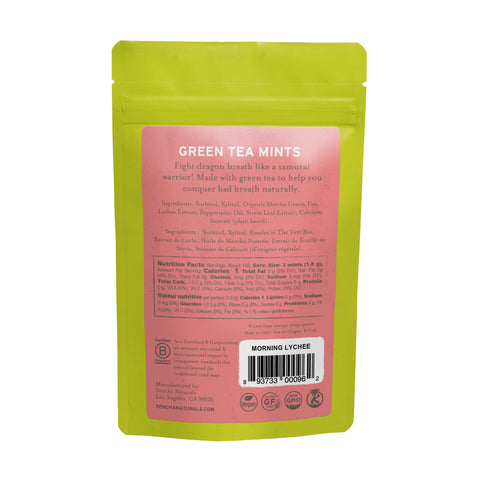 Morning Lychee, Green Tea Mints, Refill Bag