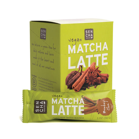 Bombay Chai, Matcha Latte Stick Pack,<br>Box of 12