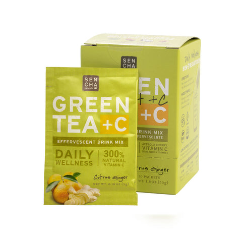 Green Tea +C - Citrus Ginger | Box of 10