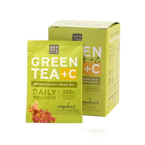 Green Tea +C- Dragonfruit | Box of 10